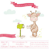 Baby Giraffe Shower Card with place for your text Royalty Free Stock Photography
