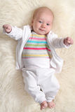 Baby girl (1,5 months ). Smiling baby girl (1,5 months Royalty Free Stock Photography