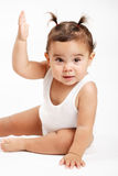 Baby girl. Portrait of baby girl isolated royalty free stock images