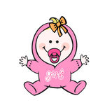 Baby girl. Happy human baby girl illustration Stock Image