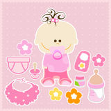 Baby girl stock illustration