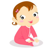 Baby girl. Cute cartoon a cute baby girl Stock Photo