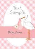 Baby girl. A Baby girl arrival announcement Royalty Free Stock Photography