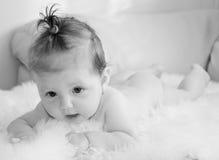 Baby girl. Little baby girl high key Stock Photos