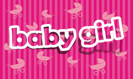 Baby girl. Realistic cut, takes the background color Royalty Free Stock Photo