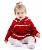 Baby girl. Beautiful baby girl on white background royalty free stock images