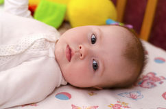 Baby girl 3 month Royalty Free Stock Image