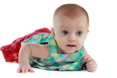 Baby girl  (3 months) Royalty Free Stock Photos