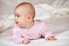 Baby girl of 5 months Stock Images