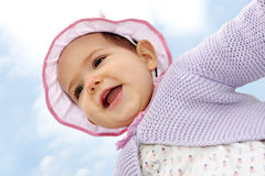 Baby girl, 8 months portrait Royalty Free Stock Photo