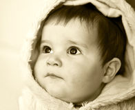 Baby girl. A portrait with little baby girl Stock Image