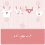 Baby girl. Announcement. Vector illustration Royalty Free Stock Images
