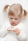 The baby girl is ailing Royalty Free Stock Photography
