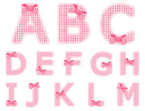 Baby girl alphabet set from A to M. Isolated baby girl alphabet set from A to M Stock Photography