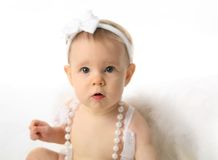 Baby girl angel Stock Photography