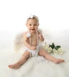 Baby girl angel Royalty Free Stock Image