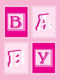 Baby Girl Announcement Stock Photography