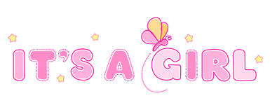 Baby Girl Banner Header Royalty Free Stock Photos