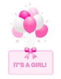 Baby Girl Announcement Stock Image