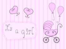 Baby girl announcement Royalty Free Stock Image