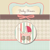 Baby girl announcement card Stock Photos