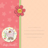 Baby girl announcement card Royalty Free Stock Images