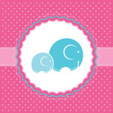 Baby girl announcement card. Vector illustration. Stock Photo