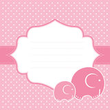 Baby girl announcement card. Vector illustration. Stock Photos