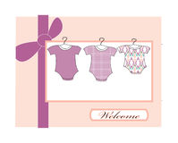 Baby girl arrival Stock Photography