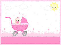 Baby girl arrival vector illustration