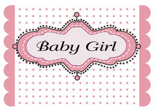 Baby girl arrival Royalty Free Stock Images