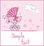 Baby girl arrival royalty free illustration