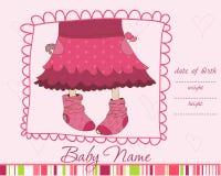 Baby Girl Arrival announcement card. Wonderful Baby Girl Arrival announcement card in Stock Photos