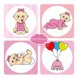 Card baby girl Royalty Free Stock Photography