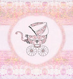 Baby girl arrival announcement Stock Image