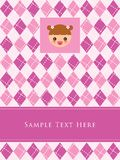 Baby girl arrival card. A cute baby girl arrival greeting card Stock Images