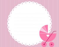Baby girl arrival card stock illustration