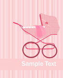 Baby girl arrival card. Royalty Free Stock Image