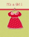 Baby Girl Arrival Card Stock Photos