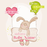 Baby Girl Arrival Card royalty free illustration