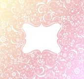 Baby girl arrival card. Baby girl arrival greeting card Royalty Free Stock Image