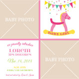 Baby Girl Arrival Card Stock Photo