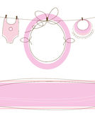 Baby girl arrival design Royalty Free Stock Photography