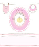 Baby girl arrival design Stock Photo
