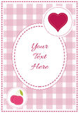 Baby girl arrival, shower, Greeting, announcement card with teddy bear and hearts. Vector postcard Royalty Free Stock Photo