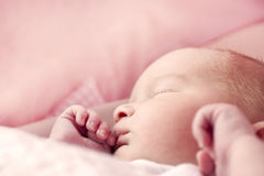 Baby girl asleep Stock Photography