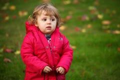 Baby girl autumn portrait Royalty Free Stock Photos