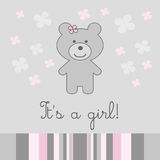 Baby girl background Royalty Free Stock Photo