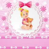 Baby girl background Stock Photography