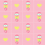 Baby girl background Stock Images